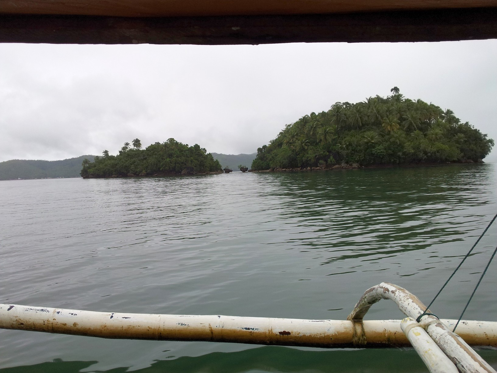 on the way to the island